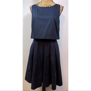 Ann Taylor Loft Navy Open Back Dress NWT